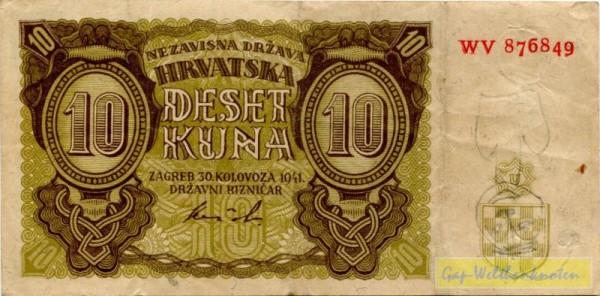30.8.41, XX KN - (Sie sehen ein Musterbild, nicht die angebotene Banknote)