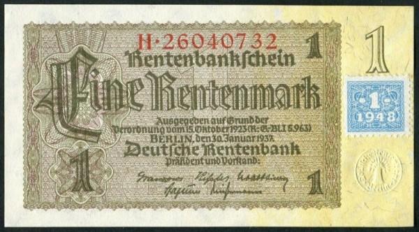 Marke auf 166b - (Sie sehen ein Musterbild, nicht die angebotene Banknote)
