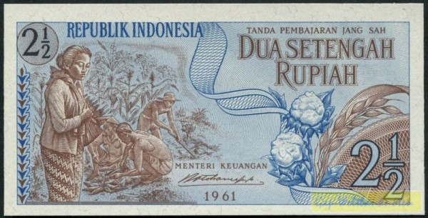 1961 - (Sie sehen ein Musterbild, nicht die angebotene Banknote)