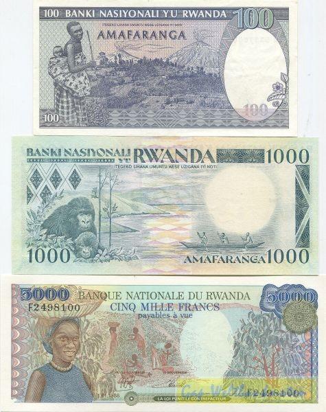 1988/89, 3 Scheine - (Sie sehen ein Musterbild, nicht die angebotene Banknote)