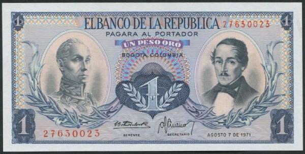 7.8.71 - (Sie sehen ein Musterbild, nicht die angebotene Banknote)