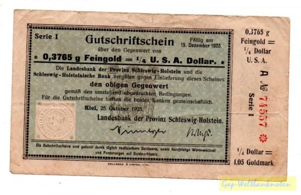 25.10.23 - (Sie sehen ein Musterbild, nicht die angebotene Banknote)
