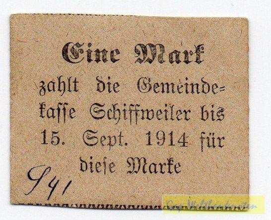 """(1914), """"zahlt"""" am Anfang, geschlossene 4 - (Sie sehen ein Musterbild, nicht die angebotene Banknote)"""