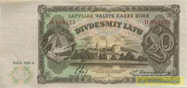 1935, Us. 13/11, Riss, s. III - (Sie sehen ein Musterbild, nicht die angebotene Banknote)
