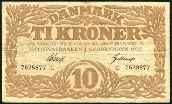 1932C - (Sie sehen ein Musterbild, nicht die angebotene Banknote)