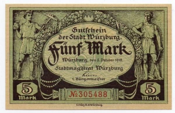 8.10.18, Neudruck - (Sie sehen ein Musterbild, nicht die angebotene Banknote)