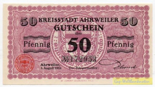 3.8.1918, Pap weiß - (Sie sehen ein Musterbild, nicht die angebotene Banknote)