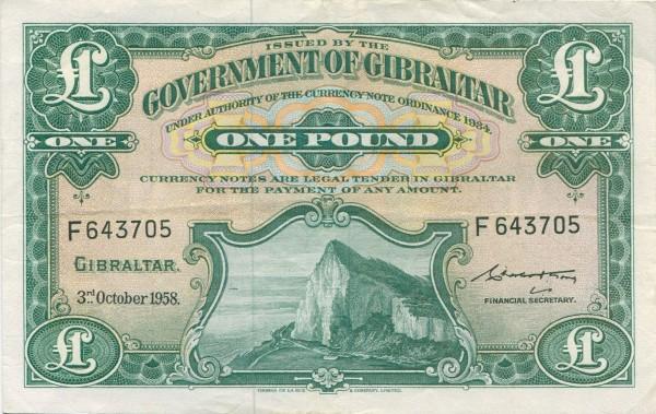3.10.58, TDLR - (Sie sehen ein Musterbild, nicht die angebotene Banknote)