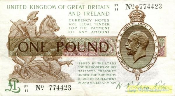 ...Ireland, Us. Fisher, X1/zz № KN - (Sie sehen ein Musterbild, nicht die angebotene Banknote)