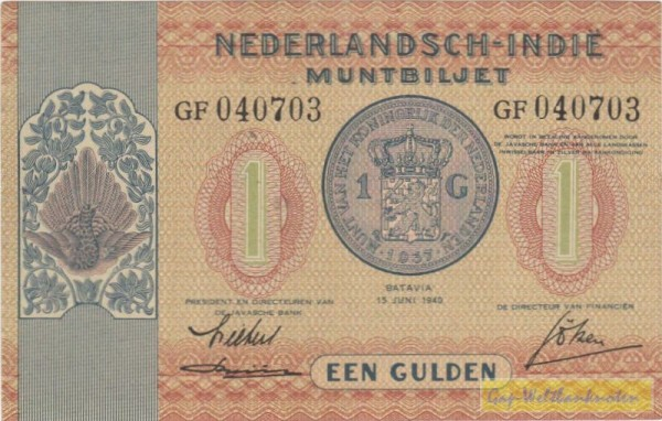 15.6.40, XX KN - (Sie sehen ein Musterbild, nicht die angebotene Banknote)