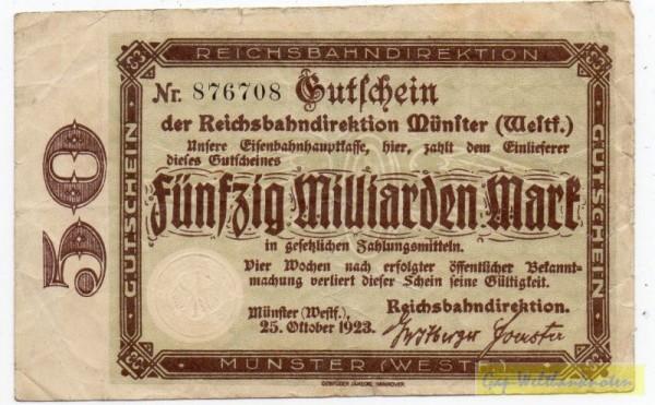 Wz Rautensterne - (Sie sehen ein Musterbild, nicht die angebotene Banknote)