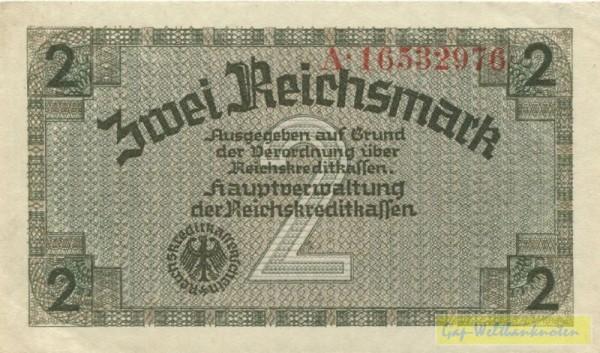 ohne Prägestempel, KN rot - (Sie sehen ein Musterbild, nicht die angebotene Banknote)