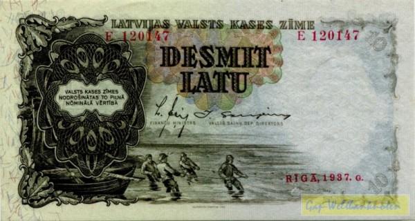 1937, Us. 13/11 - (Sie sehen ein Musterbild, nicht die angebotene Banknote)