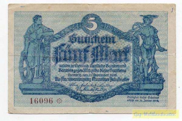 16.11.18, Wz Schippen, Druck blau - (Sie sehen ein Musterbild, nicht die angebotene Banknote)