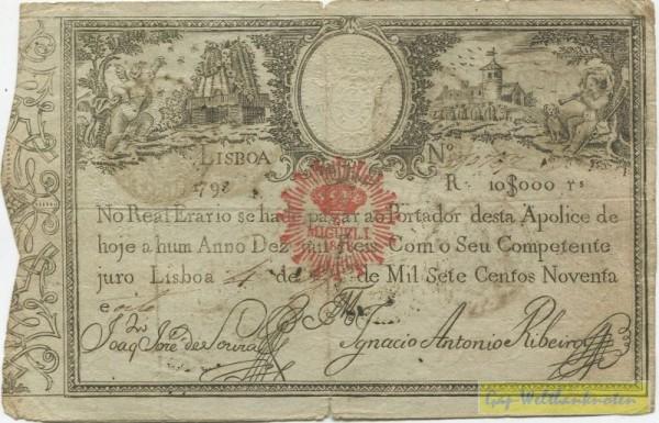 1798 - (Sie sehen ein Musterbild, nicht die angebotene Banknote)
