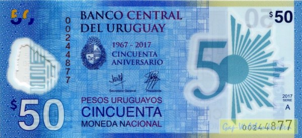 GA: 50 Jahre Zentralbank - (Sie sehen ein Musterbild, nicht die angebotene Banknote)