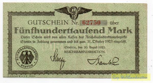 20.8.23, Wz Achteckfliesen - (Sie sehen ein Musterbild, nicht die angebotene Banknote)