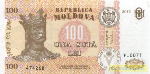 2013, neue Us. - (Sie sehen ein Musterbild, nicht die angebotene Banknote)