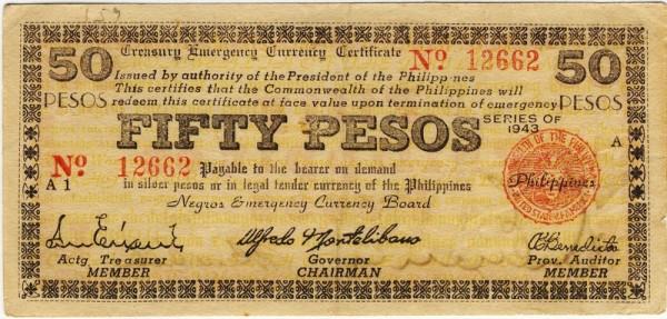 1943, A1, A2 - (Sie sehen ein Musterbild, nicht die angebotene Banknote)