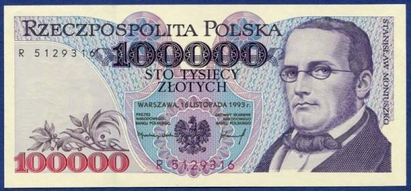 16.11.93, X - (Sie sehen ein Musterbild, nicht die angebotene Banknote)