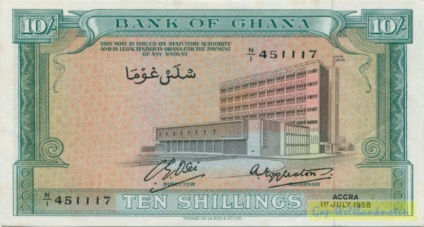 1.7.58, 2 Us., TDLR - (Sie sehen ein Musterbild, nicht die angebotene Banknote)