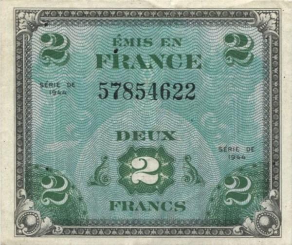 1944, ohne Serie - (Sie sehen ein Musterbild, nicht die angebotene Banknote)
