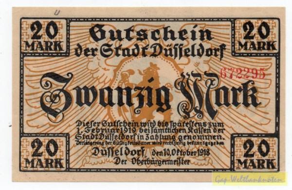 10.10.18, KN rot 4,5 mm Type I - (Sie sehen ein Musterbild, nicht die angebotene Banknote)