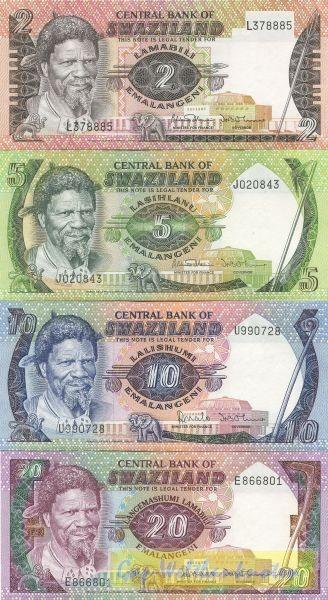1982/86, 4 Scheine - (Sie sehen ein Musterbild, nicht die angebotene Banknote)