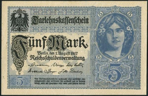 1.8.17, Udr. grauviolett, KN 8st - (Sie sehen ein Musterbild, nicht die angebotene Banknote)