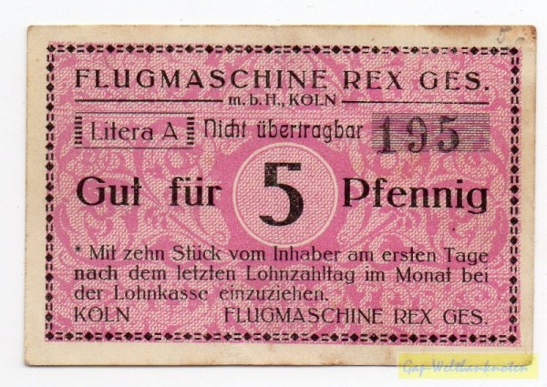 oD Lit A, ohne Wz - (Sie sehen ein Musterbild, nicht die angebotene Banknote)