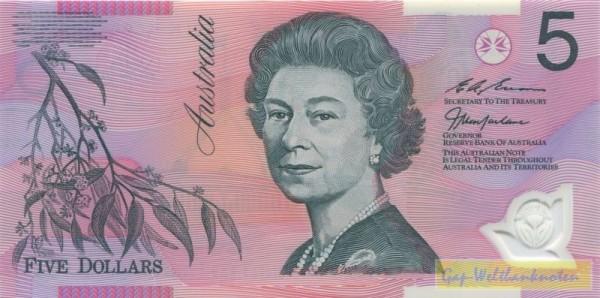 97, rote KN - (Sie sehen ein Musterbild, nicht die angebotene Banknote)