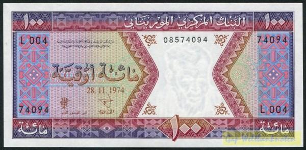 28.11.74, Us. 1 - (Sie sehen ein Musterbild, nicht die angebotene Banknote)