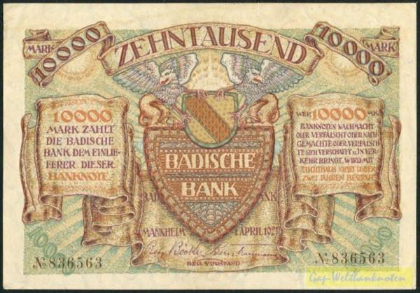 1.4.23, ohne Serie - (Sie sehen ein Musterbild, nicht die angebotene Banknote)