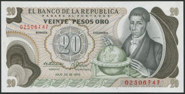 20.7.75 - (Sie sehen ein Musterbild, nicht die angebotene Banknote)