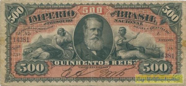(1880), zwei KN - (Sie sehen ein Musterbild, nicht die angebotene Banknote)