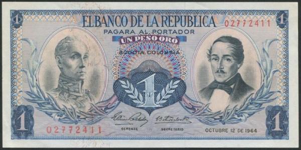 12.10.64 - (Sie sehen ein Musterbild, nicht die angebotene Banknote)