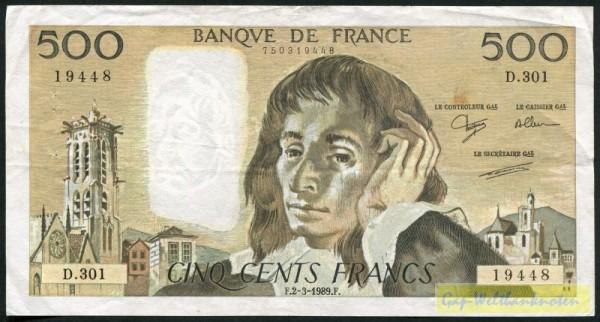 Ferman/Dentaud/Charriau,88,89 - (Sie sehen ein Musterbild, nicht die angebotene Banknote)