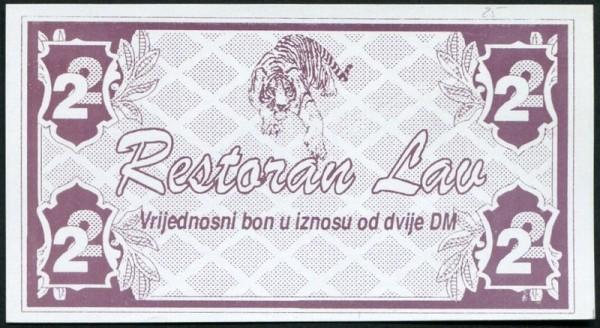 mit rs. RSt., Vs. ohne HU - (Sie sehen ein Musterbild, nicht die angebotene Banknote)