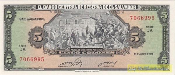 """25.8.83, """"Presidente"""" 10,4 mm - (Sie sehen ein Musterbild, nicht die angebotene Banknote)"""