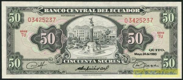 24.5.80, TU rot - (Sie sehen ein Musterbild, nicht die angebotene Banknote)