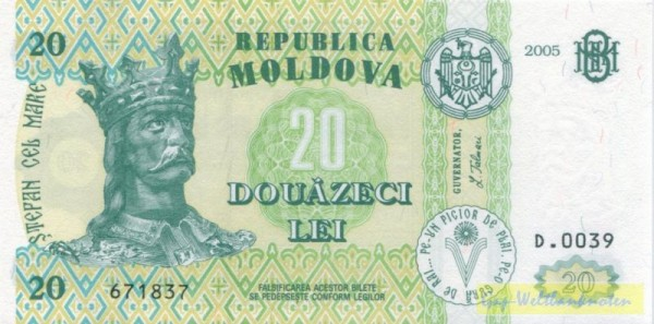 2005 - (Sie sehen ein Musterbild, nicht die angebotene Banknote)