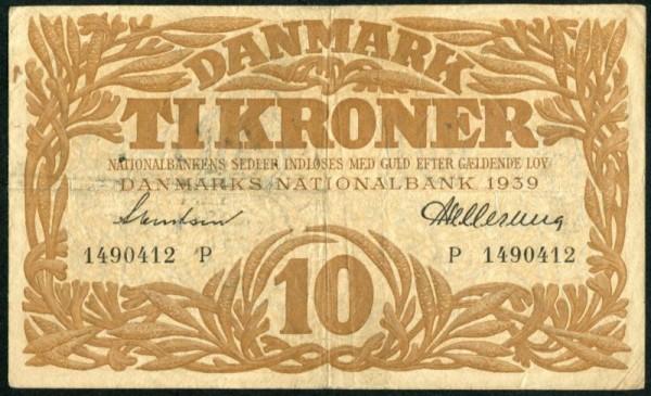 1939P - (Sie sehen ein Musterbild, nicht die angebotene Banknote)