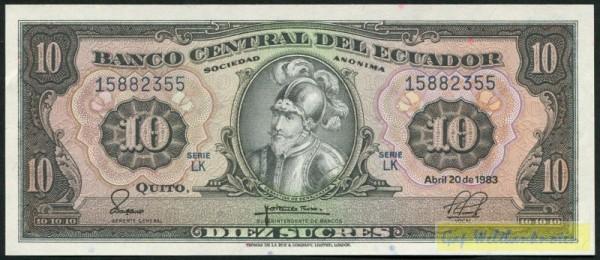 20.4.83, LK - (Sie sehen ein Musterbild, nicht die angebotene Banknote)