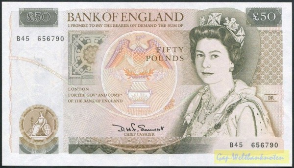 Us. Somerset - (Sie sehen ein Musterbild, nicht die angebotene Banknote)