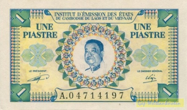 Sisavang Vong, Us. 16 - (Sie sehen ein Musterbild, nicht die angebotene Banknote)