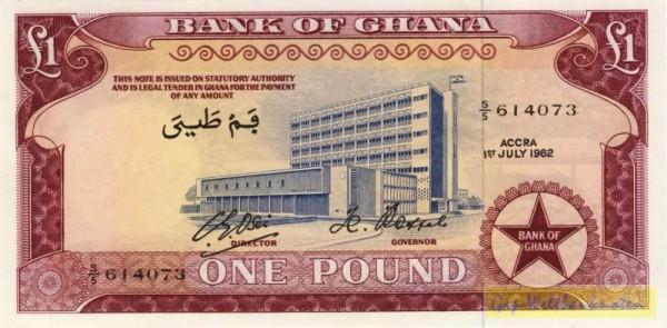 1.7.62, ohne Dfa. - (Sie sehen ein Musterbild, nicht die angebotene Banknote)
