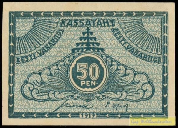 1919 - (Sie sehen ein Musterbild, nicht die angebotene Banknote)