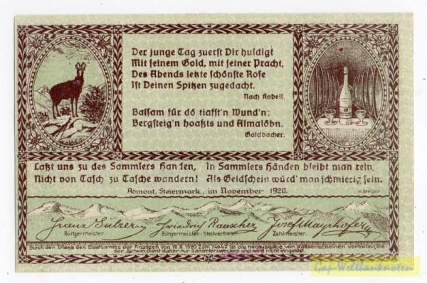 Dr. bds. braun, Bild grün - (Sie sehen ein Musterbild, nicht die angebotene Banknote)