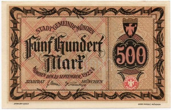 """26.9.22, ohne KN, Perf. """"UNGILTIG"""" - (Sie sehen ein Musterbild, nicht die angebotene Banknote)"""