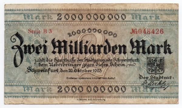 20.10.23, Serie A 2 - (Sie sehen ein Musterbild, nicht die angebotene Banknote)